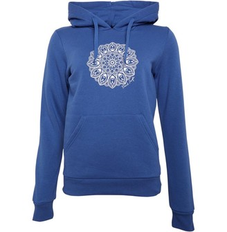 Board Angels Womens Placement Print Hoodie Denim Blue