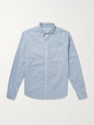 SAVE KHAKI UNITED Slim-Fit Garment-Dyed Button-Down Collar Cotton Oxford Shirt