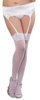 Dreamgirl Plus Size Lace Top Sheer Thigh High