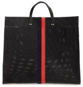 Clare Vivier Simple Perforated Leather Tote - Black