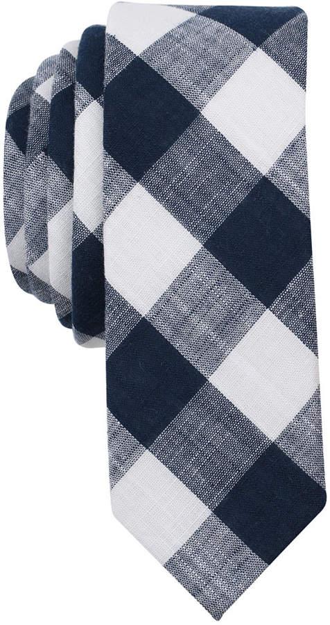Original Penguin Men's Eldon Check Skinny Tie