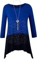 Grace Studded Tunic With Necklace