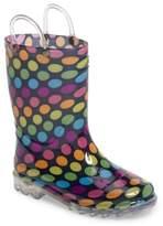 Western Chief Darling Dot Light-Up Rain Boot