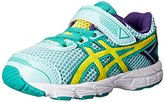 Asics GT 1000 4 TS Running Shoe (Toddler/Big Kid), Ice Blue/Flash Yellow/Emerald, 4 M US Big Kid