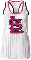 5th & Ocean Women's St. Louis Cardinals Pinstripe Glitter Tank Top