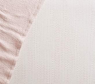 Pottery Barn Kids Organic Blush Falling Dot Crib Fitted Sheet