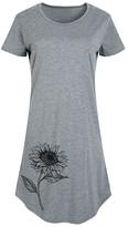 Instant Message Women's Women's Tee Shirt Dresses HEATHER - Heather Gray Sunflower Short-Sleeve Dress - Women & Plus