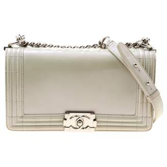 Chanel Boy White Patent leather Handbags