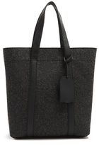 Lanvin Leather-trimmed Wool-felt Tote