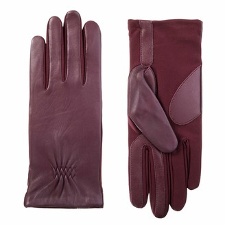 Isotoner Women's Stretch Leather Touchscreen Gloves with Warm Fleece Lining Small/Medium