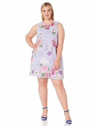 Calvin Klein Women's Size Sleeveless Round Neck Trapeze Dress