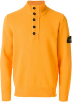 Stone Island button neck jumper