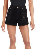 MinkPink Ribbed Distressed Shorts