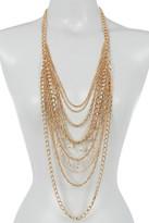Natasha Accessories Multi Row Chain Necklace