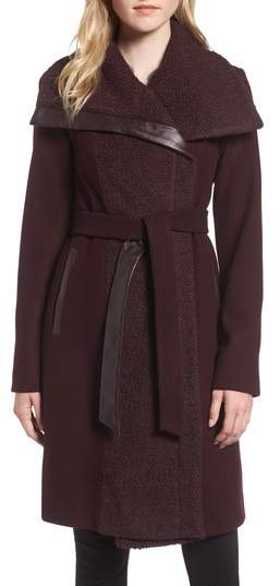 Vince Camuto Textured Double Breasted Coat
