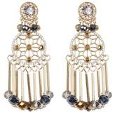 Jenny Packham Crystal & Bead Fringe Drop Earrings