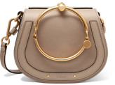 Chloé Nile Bracelet Small Leather And Suede Shoulder Bag - Gray