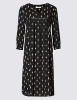 Marks and Spencer Smock Print 3/4 Sleeve Shift Dress