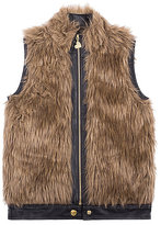 Betsey Johnson Fabulous Fun 7 16 Faux Fur Vest