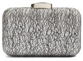 Glint Abstract Lace Clutch - Metallic