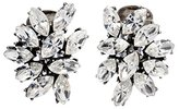 Ben-Amun Women's Silver Plated Marquise Clear Swarovski Crystals Stud Earrings