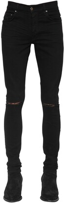 Amiri 15cm Cotton Denim Slash Jeans