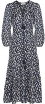Ulla Johnson Clementine Printed Cotton And Silk-blend Jacquard Midi Dress