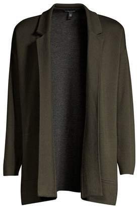 Eileen Fisher Merino Wool-Blend Cardigan Jacket