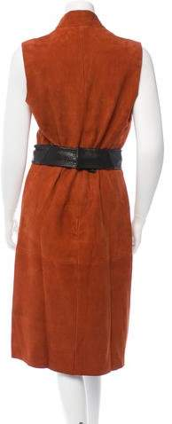 Veda View Suede Midi Dress