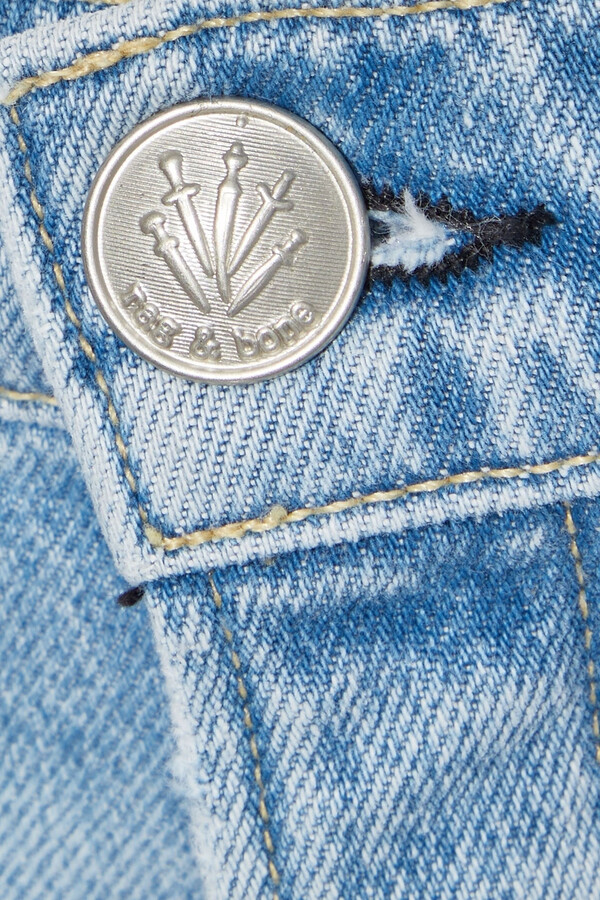 Thumbnail for your product : Rag & Bone Ruth Distressed High-rise Straight-leg Jeans