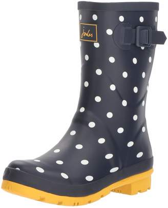 Joules Women's Molly Welly Rain Boot French Navy spot 3 Medium UK (5 US)