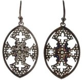 Armenta Maltese Cross Shield Diamond Earrings