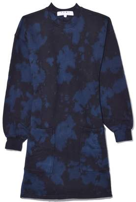 Proenza Schouler Sweatshirt Dress in Indigo/Black Ink Blotch