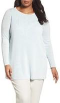 Eileen Fisher Plus Size Women's Organic Linen Blend Crepe Knit Sweater