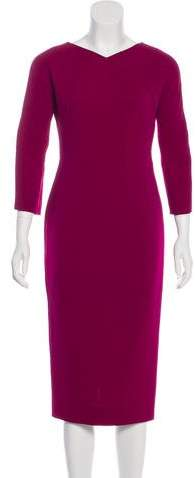 Victoria Beckham Long Sleeve Sheath Dress