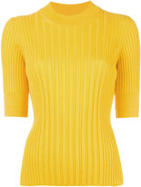 Maison Margiela ribbed knitted top