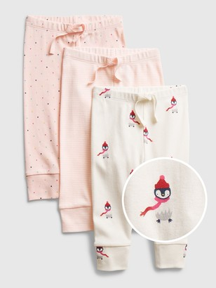 Gap Baby Print Pull-On Pants (3-Pack)