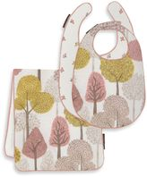 DwellStudio Treetops Petal Bib/Burp Set