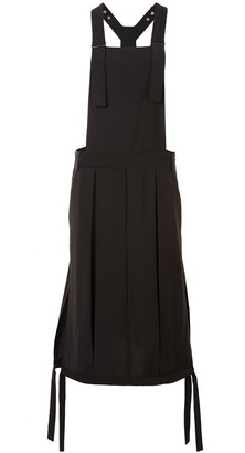 Tibi Tropical Wool overall skirt
