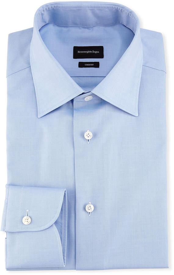 Ermenegildo Zegna Trofeo Dress Shirt, Blue