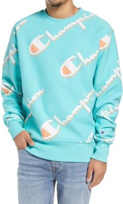 Champion Drop Shadow Logo Crewneck Sweatshirt