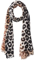 Bindya Cashmere/Silk Stole Animal Mixed Print Scarf Scarves