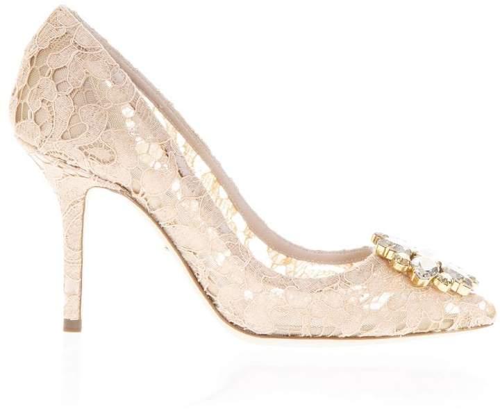 Dolce & Gabbana 60mm Bellucci Lace & Swarovski Pumps
