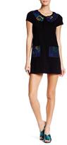 Anna Sui Day Tripper Jacquard & Velvet T-Shirt Dress