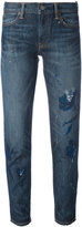 Polo Ralph Lauren floral paint cropped jeans - women - Cotton - 29