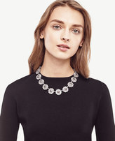 Ann Taylor Floral Crystal Necklace