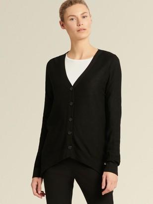 DKNY Donna Karan Women's Windowpane Check Cardigan - Black - Size XX-Small