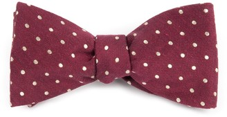 The Tie Bar Dotted Dots Burgundy Bow Tie