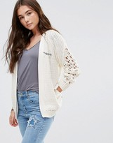 Maison Scotch Chunky Cable Knit Cardigan