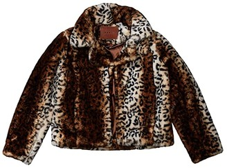 Blank NYC Kids Faux Fur Leopard Chubby (Big Kids) (Thundercat) Girl's Clothing